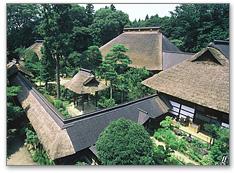 萱葺きの建築物で有名な大雄寺
